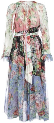 Zimmermann Bellitude Spliced Midi Dress