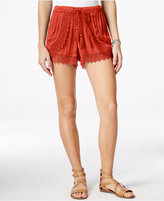 American Rag Crocheted Drawstring Shorts, Only at Macy's