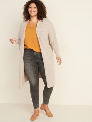 Old Navy Plus-Size Super-Long Open-Front Sweater