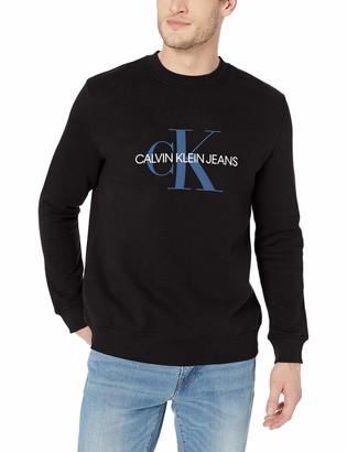 Calvin Klein Jeans Men's Men's Short Sleeve Monogram Logo T-Shirt Shirt