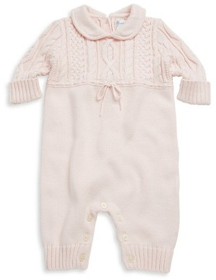 Ralph Lauren Baby Girl's Cable-Knit Coverall