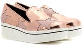 Stella McCartney Star Binx metallic platform loafers