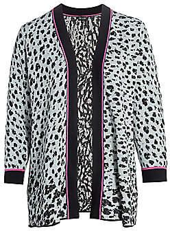 NIC + ZOE, Plus Size NIC + ZOE, Plus Size Women's Leopard Knit Multitasker Cardigan
