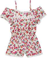 Little Mass Cherry Flower Cold Shoulder Romper (Little Girls & Big Girls)
