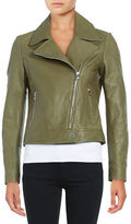 Karl Lagerfeld Paris Leather Moto Jacket