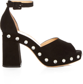 Charlotte Olympia Elie block-heel suede sandals