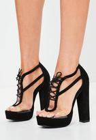 Missguided Clear Panel Lace Up Platforms