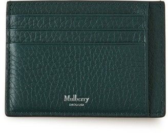 Mulberry Card Holder Green Heavy Grain