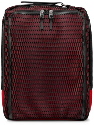 Christian Louboutin Hop'n Zip Mesh & Leather-Trim Backpack