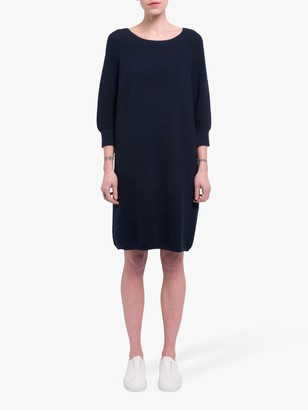 French Connection Mozart Ripple Jumper Dress, Utility Blue