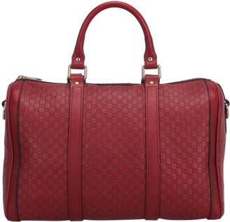 Gucci Red Microguccissima Leather Boston Bag