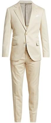 Brunello Cucinelli Stone Wool-Blend Suit Jacket