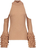 Jonathan Simkhai Cutout fringed wool sweater