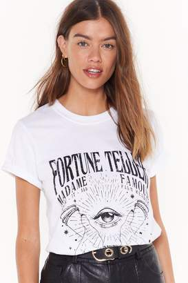 Nasty Gal Womens Fortune Favors Graphic Tee - white - XL