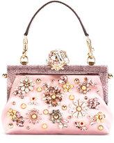 Dolce & Gabbana Vanda clutch - women - Silk/Crystal/Ayers Snakeskin/viscose - One Size