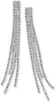 Thalia Sodi Silver-Tone Rhinestone Fringe Earrings, Only at Macy's