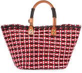 Balenciaga Bistro Cabas Small Straw Tote Bag
