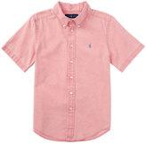 Ralph Lauren Short-Sleeve Linen-Blend Shirt, Island Red, Size 2T-4T