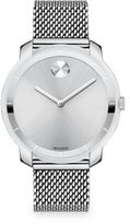 Movado Bold Stainless Steel Mesh Bracelet Watch