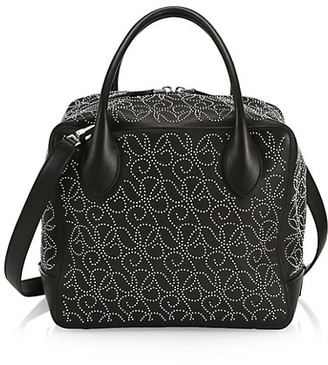 Alaia Medium Elba Studded Leather Box Bag