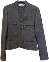 Christian Dior Grey Wool Jacket for Women Vintage