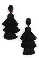 Oscar de la Renta Women's Tiered Tassel Drop Earrings