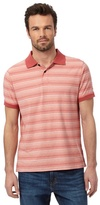 Mantaray Big And Tall Red Feeder Striped Print Polo Shirt