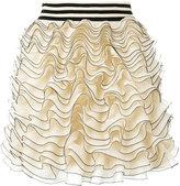 Alexander McQueen ruffled mini skirt - women - Silk/Polyamide/Polyester/Viscose - S