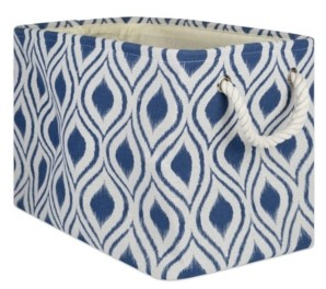 Design Imports Polyester Bin Ikat French Rectangle Large