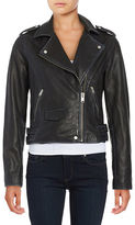 Andrew Marc Asymmetrical Zip Front Moto Jacket
