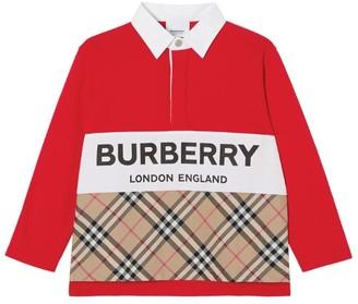 Burberry Kids Logo Check Polo Shirt (3-12 Years)