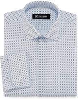 Stacy Adams Long Sleeve Woven Pattern Dress Shirt - Big