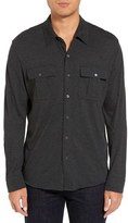 James Perse Men's Melange Jersey Sport Shirt