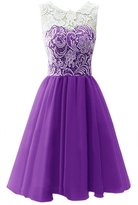 Onlinedress Women's Lace Sexy Bridesmaid Dress Prom Gown Size 16