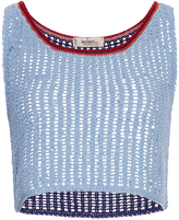 Lemlem Tiya Cotton Knitted Cropped Top