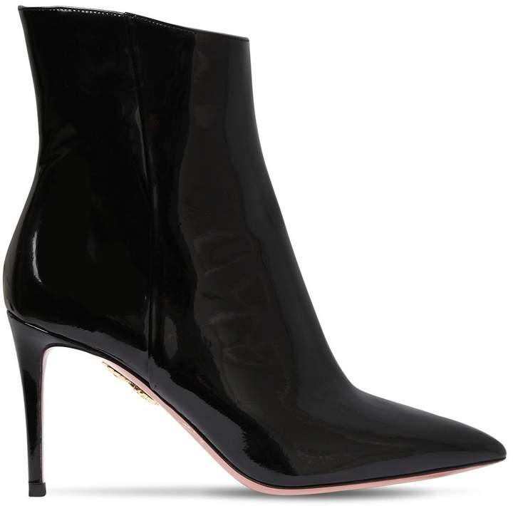 Aquazzura 85mm Alma Patent Leather Ankle Boots