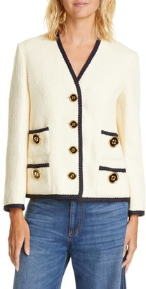 Gucci GG Logo Embossed Jacquard Jacket