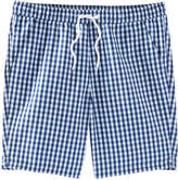 Joe Fresh Men's Check Board Short, Sky Blue (Size XS)