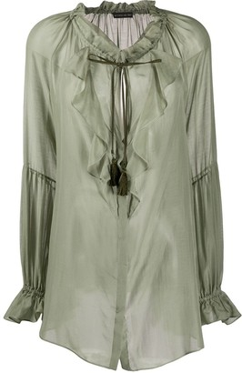 Etro Ruffled Sheer Tunic