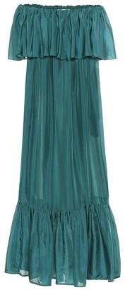 Kalita La Fontelina tiered silk maxi dress