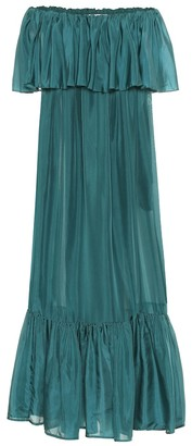 Kalita La Fontelina tiered silk maxi dress