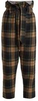 Vivienne Westwood New Kung Fu wool-blend tartan cropped trousers