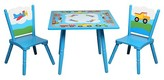 Levels of Discovery Olive Kids Trains Planes Trucks Table & Chair Set - Blue