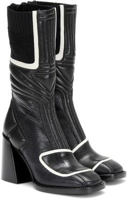 Chloé Bell lizard-effect leather boots