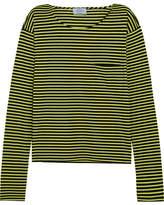 Prada Striped Cotton-jersey Top - Lime green