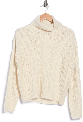 Cloth By Design Turtle Neck Cable Knit Pullover