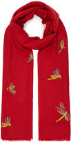 Janavi Cherry Red Dragonfly Stole