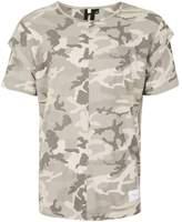 Criminal Damage Grey Camouflage Layered Sleeve T-shirt*