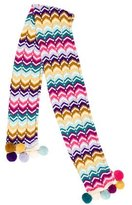 Missoni Girls' Wool Pom Pom-Embellished Scarf