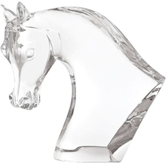 Lalique Crystal Horse Head Sculpture
